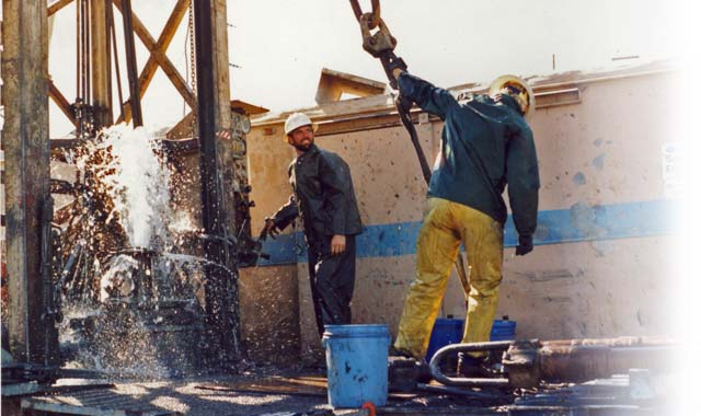 men working with water well drilling in st. paul, oregon