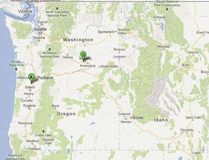 map showing Schneider Equipment, Inc. locations